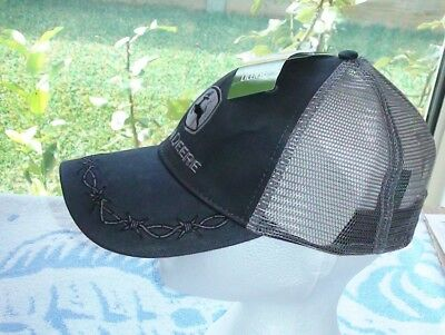 John Deere Barbwire Oilskin Dark Grey Logo Cap Has Barbwire Embroided On Brim.