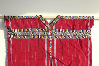 Collectible Authentic Vintage Guatemala huipil worn by Mayan Tribeswoman