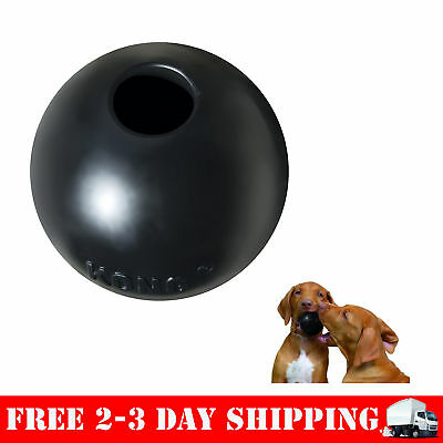 Extreme Ball Dog Toy Medium/Large Rubber Fetch Tough Chew Games Durable Black