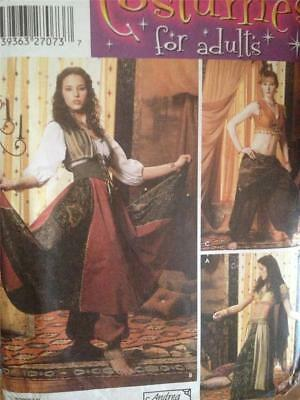 SIMPLICITY SEWING PATTERN 5359 Misses Gypsy Belly Dancing Costume ...