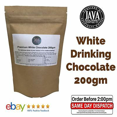 200g DaVinci Premium White Drinking Chocolate Powder Cafe Bakery Dessert yummy