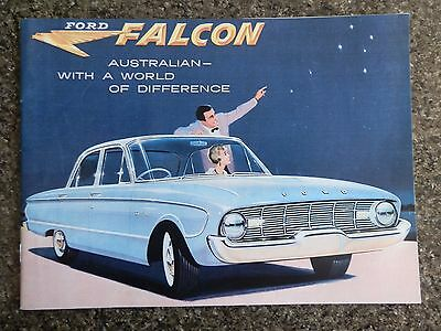 Ford Falcon Xk Brochure  (Incl Wagons) Plus ''rare'' Clr & Upholstery Chart