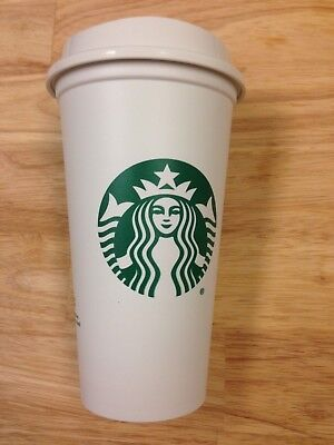 STARBUCKS Reusable Plastic Grande 16oz Coffee Tea To Go Cup Recyclable