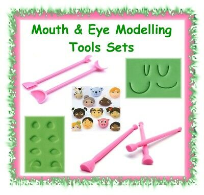 Various clay / fondant shaper modelling sculpting tool sets - polymer cake