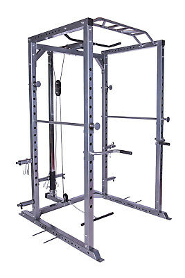 Heavy Duty Power Rack Squat Cage Machine Cable Pulley Semi-Commercial Home Gym