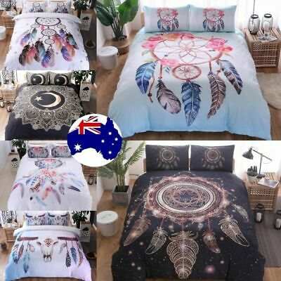 Dreamcatcher Duvet Doona Quilt Cover Set Indian Bedding Set Queen King Size Bed