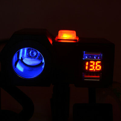 Motorcycle ATV Quad Dirt Bike KTM Dual USB Charger Blue LED Voltmeter+12V Socket