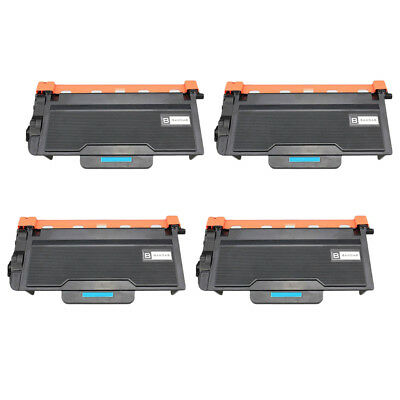 Set of 4 High Yield TN850 Toner Cartridge for Brother HL-L6200DW MFC-L6800DW