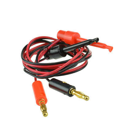 1 Pair Banana plug to Test Hook Clip probe test cable leads US Stock B158