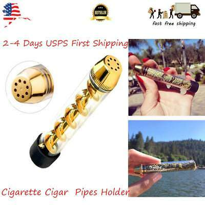 US Quality Tank 510 Tobacco Pipe Smoking Cigarette Cigar Glass Pipes Holder Gift