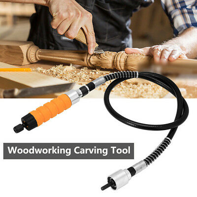 2018 New Electric Woodworking Carving Chisel Metal Flex Shaft Rotary Tools Set