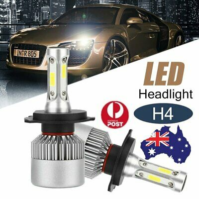 2PCS  980W 140000LM H4 9003 HB2 LED HEADLIGHT KIT Conversion Beam Bulbs Globes