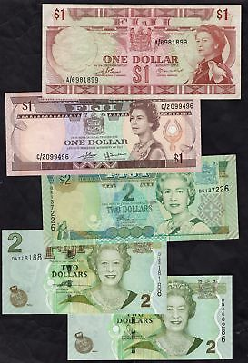 Fiji: Central Monetary Authority, 5 notes, inc 1 dollar A/6 981899.