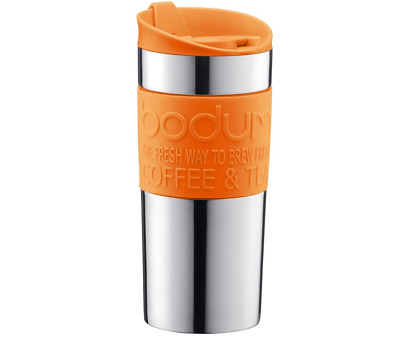 Bodum Double Wall Stainless Steel Travel Mug 350ML - Orange 11068-948