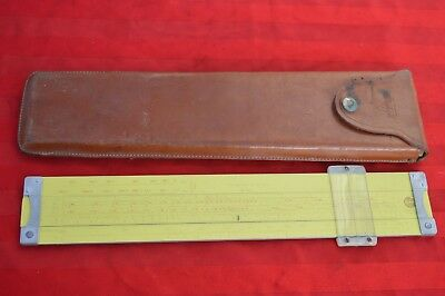 Vintage Pickett US Military Slide Rule in Original Leather Case Model SS-337-M