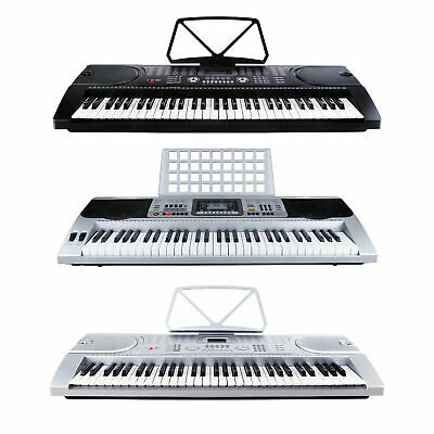 Digital Keyboard Klavier Piano 61 Tasten Keyboardständer Lernfunktion