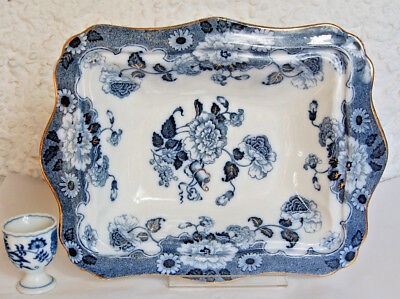 Blue and White Wood and Son Cambridge Vegetable Dish Bowl Antique.