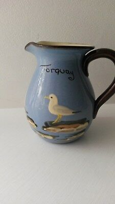 Vintage Devon Babbacombe Pottery Seagull Jug (Torquay)