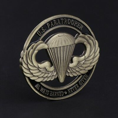 American Paratrooper US Hollow Commemorative Coin Collection Arts Gift Souvenir