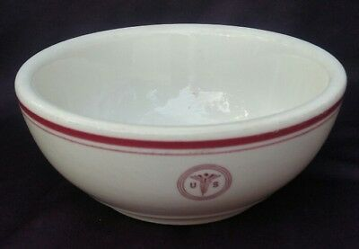 Vintage 1951 Walker China Us Army Medical Department Restaurant Ware Bowl