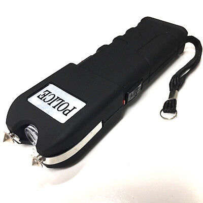 POLICE STUN GUN 928 17 BV Heavy Duty Rechargeable With LED Light And Case