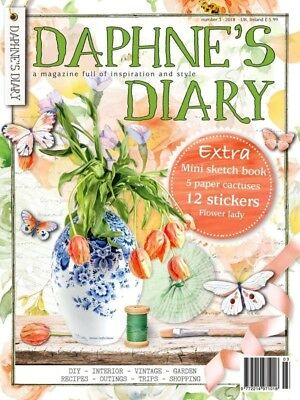 Daphne's Diary Magazine - Number 3 - 2018, Mini Sketch Book, 12 Stickers (NEW)