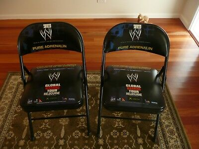 WWE / WWF Global Warning PPV 10/08/2002 Melbourne Ringside Seat Chair x 2 - RARE