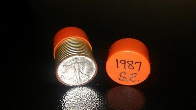 1987 American Eagle 1oz Silver Coins - Roll of 20 UNC