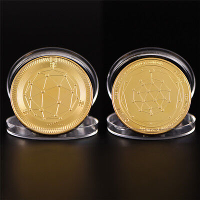 Gold Quantum Coin Commemorative Round Collectors Coin Bit Coin Collectible
