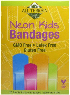 All Terrain Kid's Latex-Free Neon Bandages, All Terrain, 20 Bandages