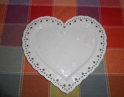 Beautiful, Ivory Porcelain Heart Platter