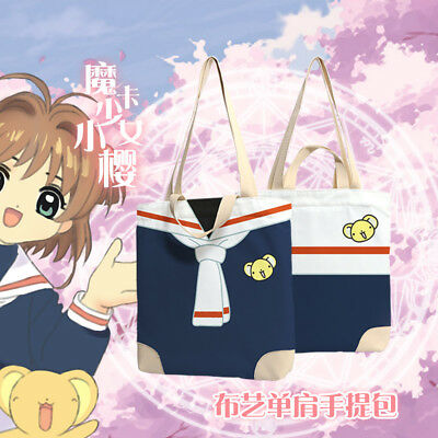 Anime Card Captor Sakura Clear Card Kero Handbag Student Bag Canvas Shoulder Bag