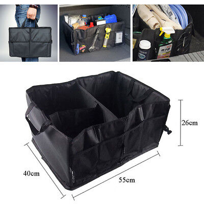 Foldable Car Auto Back Rear Trunk Seat Big Storage Bag Pocket Organizer Black US