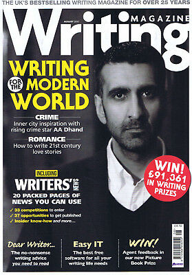 Writing Magazine. Brand new. Unused. August 2017.  Mint condition.