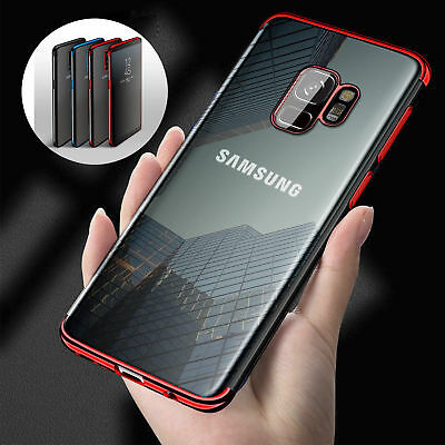 Case for Samsung Galaxy S8 S9 Luxury Ultra Slim Shockproof Silicone Clear Cover