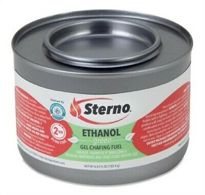 Part 20108,Sterno Group, The,Sterno, 72 Pack, 2 Hour Ethanol Gel Chafing Fuel, H