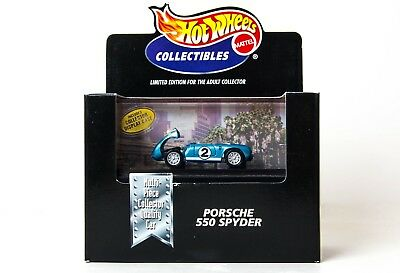 Hot Wheels Collectibles Limited Edition Porsche 550 Spyder Blue New Sealed
