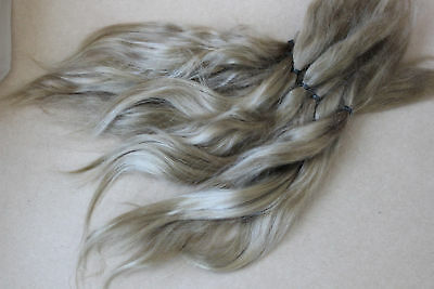 "Mohair Doll Hair Combed locks light blond 8-12"" in 0.35 oz locks angora organic"