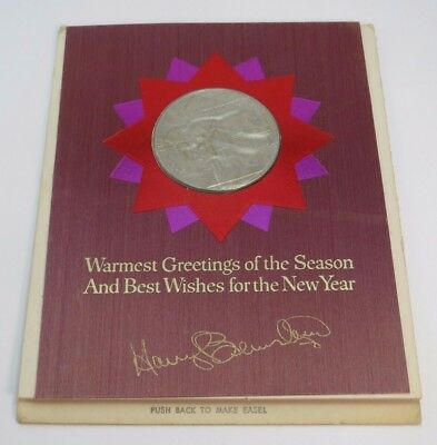 *50 YEARS OLD* Franklin Mint 1967 Christmas Carolers Collector Coin UNCIRCULATED
