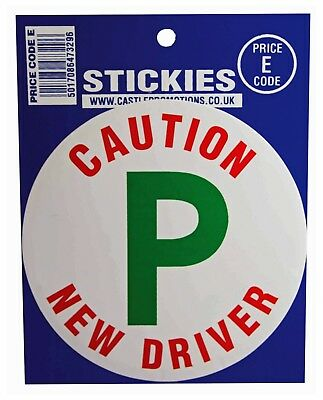 Caution New Driver Warning Sticker Castle Vinyl P Plate Self Adhesive Car Decal