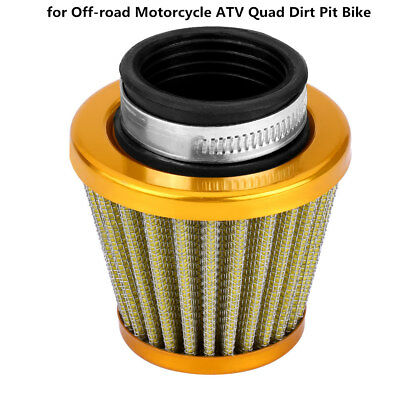 38mm Gold Clamp-On Air Filter Intake for Off-road Motorcycle ATV Dirt Pit Bike