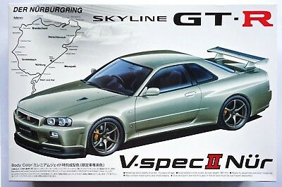 AOSHIMA 1/24 Nissan Skyline GT-R V-Spec II Nur R34 Kids land limited model kit