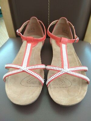 a1eecb9cf03f5 Clarks Artisan Raffi Star Grenadine Leather Diamante Sandals UK 5.5 Wide  Fit E
