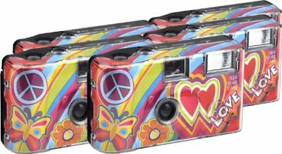 TopShot Love Cult Disposable Camera 27 Photos Flash 5 Pack