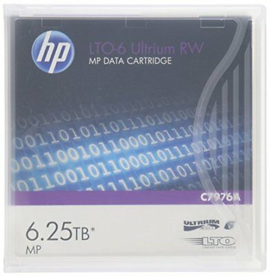 HP C7976A LTO6 6.25TB MP RW Data Cartridge