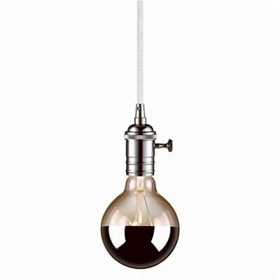 Part 65442,Globe Electric,1 Light, Plug In Pendant, Chrome Finish, Rotary Switch