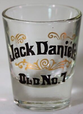Pair of Classic Jack Daniels Shot Glasses Old No. Number 7