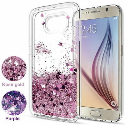 For Samsung Galaxy A3 A5 A6 A7 A8 Case Glitter Liquid Quicksand Clear Soft Cover