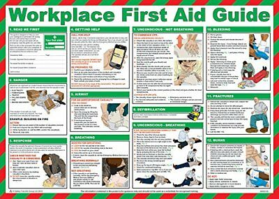 Safety First Aid Laminated Workplace First Aid Guide Poster