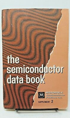 THE SEMICONDUCTOR DATA BOOK Supplement 2 MOTOROLA Electronics Transistors (1967)